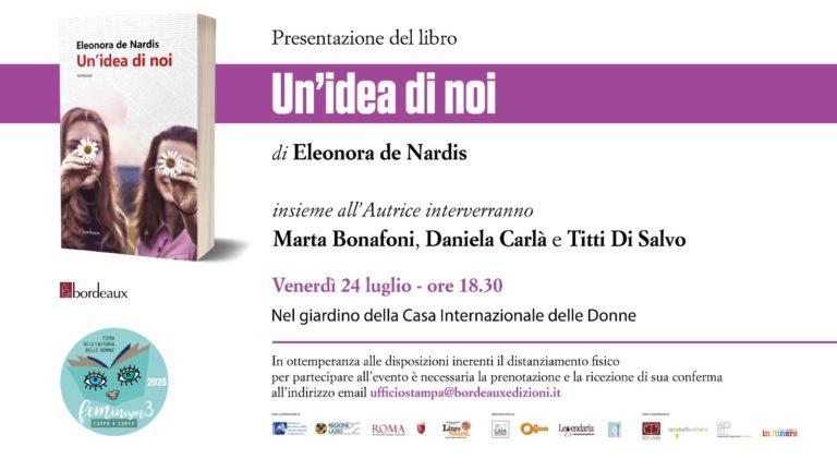 UN'IDEA DI NOI  il nuovo libro di Eleonora De Nardis